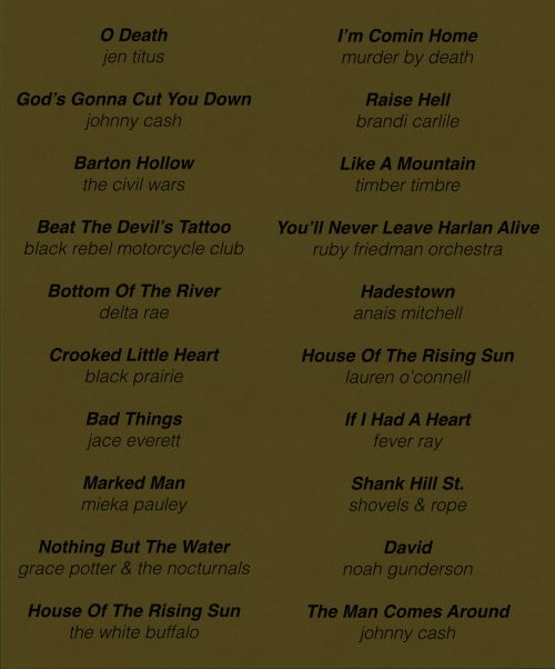 Southern Gothic playlist