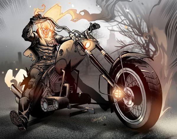 Ghost Rider by Dan Mora, via Behance