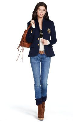 Custom-Fit Fleece-Blazer - Polo Ralph Lauren Blazer - Ralph Lauren Deutschland                                                                                                                                                                                 Mehr