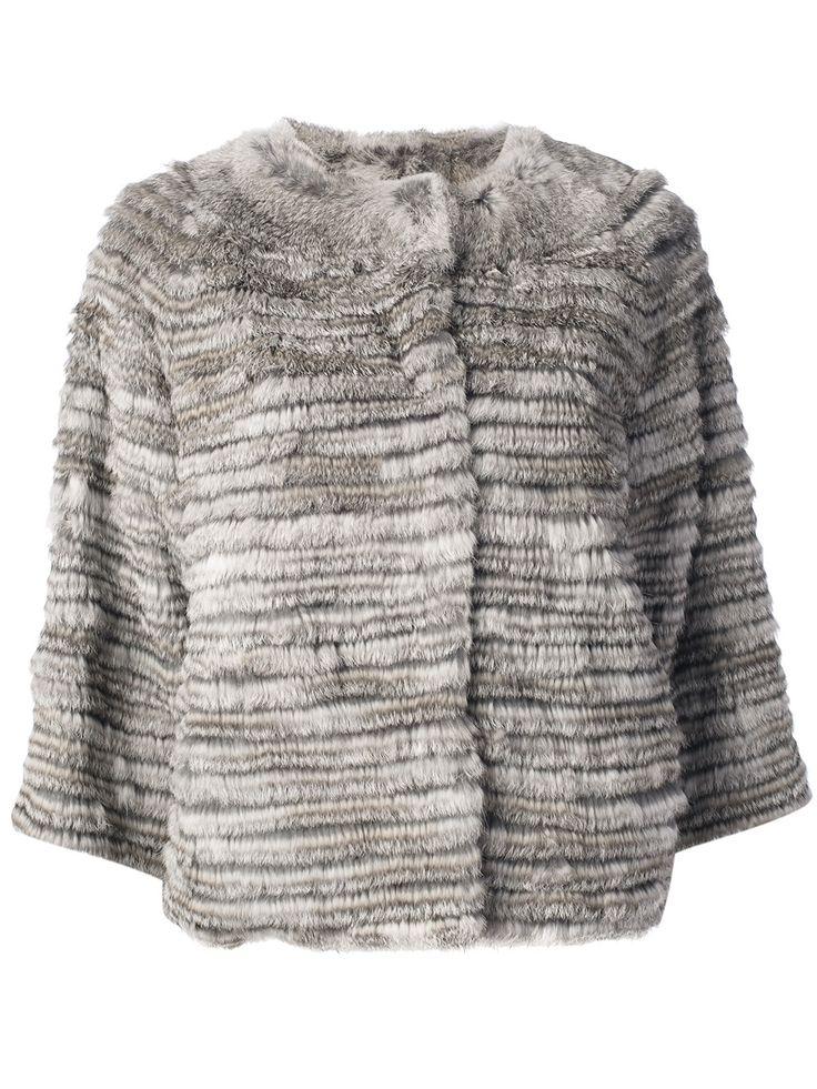S.w.o.r.d Rabbit Fur Jacket in Gray (grey) | Lyst