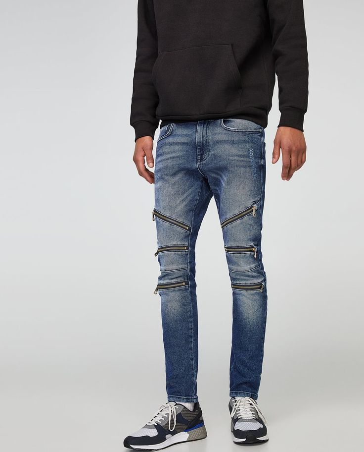 SKINNY BIKER JEANS - Available in more colours