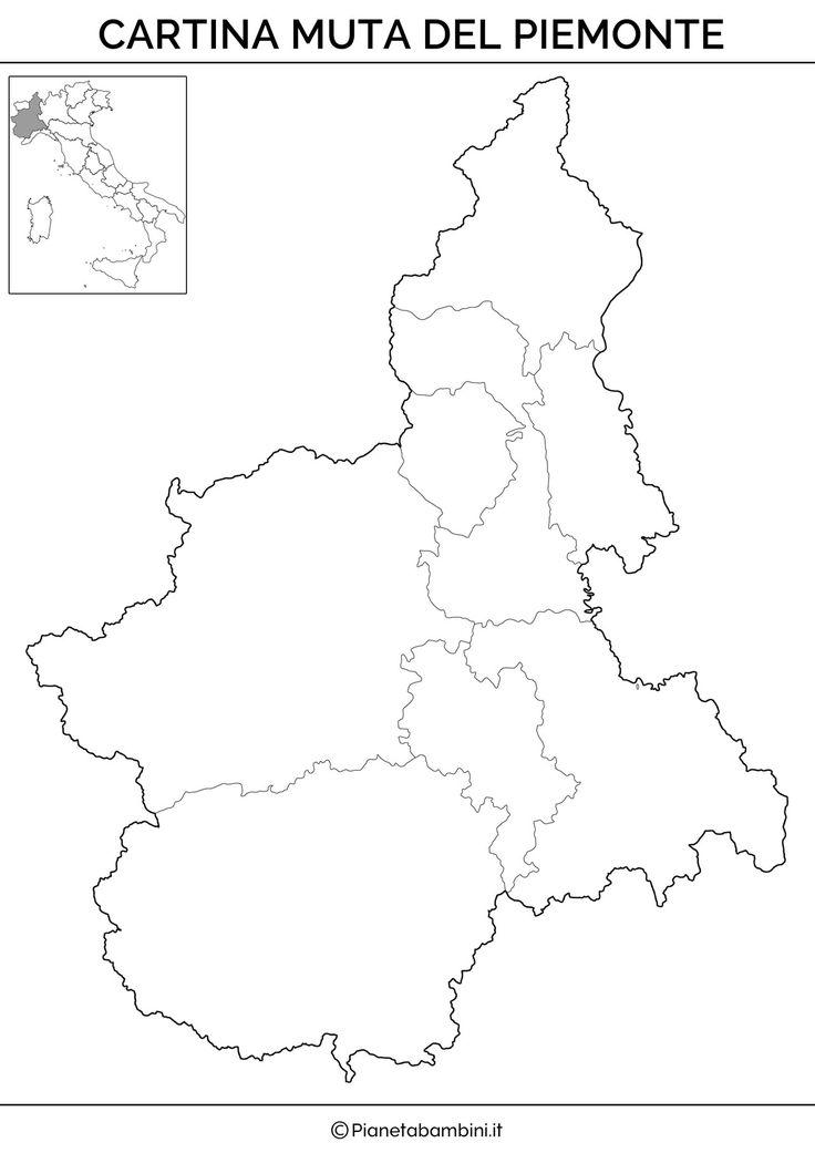 Cartina muta del Piemonte