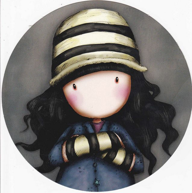 Gorjuss by Suzanne Woolcott - Gorros y guantes con rayas