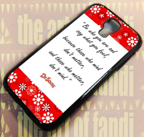 Dr Seuss Quote For Samsung Galaxy S4 Black Rubber Case