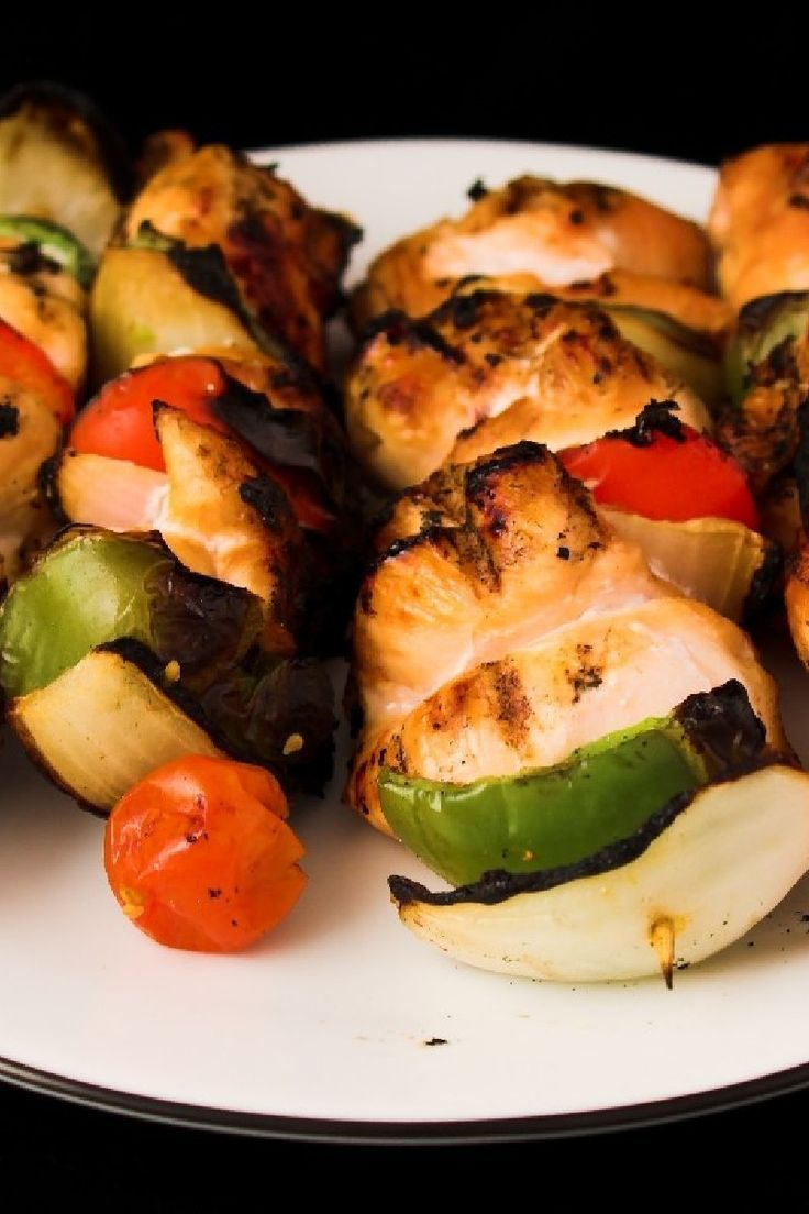 Hawaiian Chicken Kabobs. | Kabobs | Pinterest