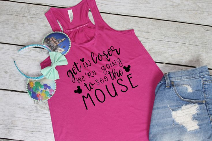 PRE-ORDER SHIP DATE 10/30 - Get in Loser we're Going to see the Mouse - Disney Mean Girls Shirt -  Pink Berry