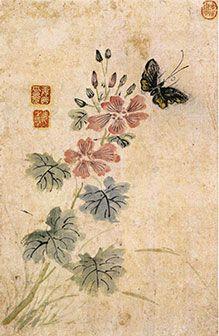 (Korea) by Gang Se-hwang (1713- 1791). color on paper. Joseon Kingdom, Korea.