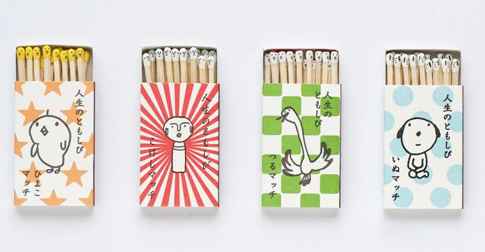 Kokeshi Matches - The Dieline -