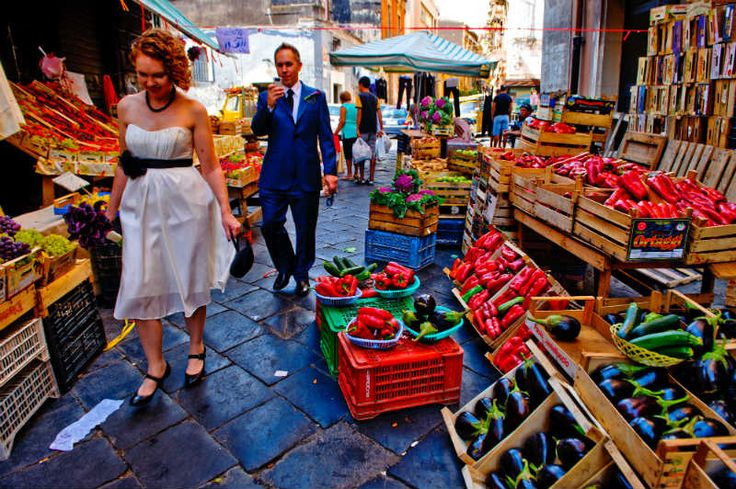 The traditional market of Catania