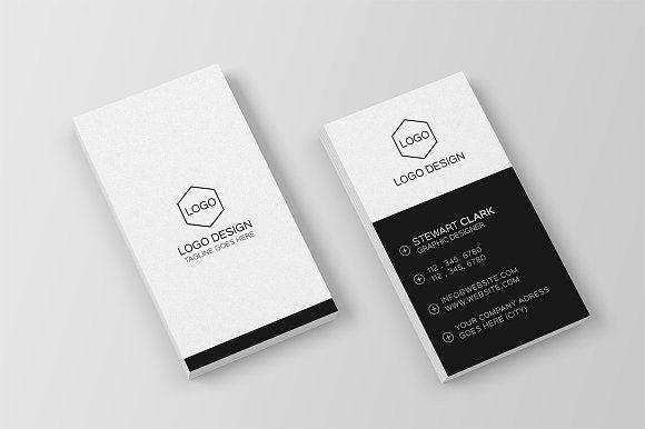 Minimal Business Card Template Minimal Business Card Business Cards Creative Templates Business Card Design Minimal