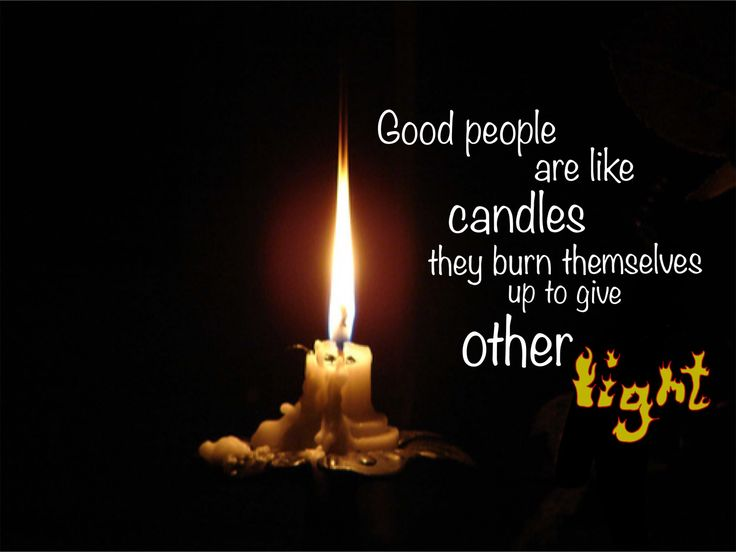 Candles are beautiful but they do burn down