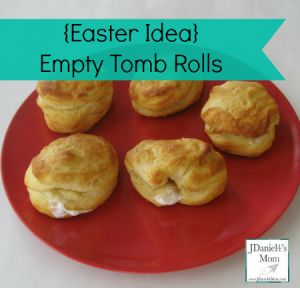{Baking and Learning} Easter Story Retelling Idea- Empty Tomb Rolls