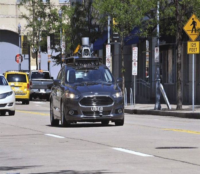 Uber is trying its first self-driving auto