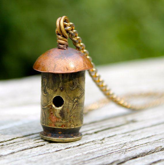 http://www.etsy.com/au/listing/162488211/bullet-shell-birdhouse-pendant-necklace