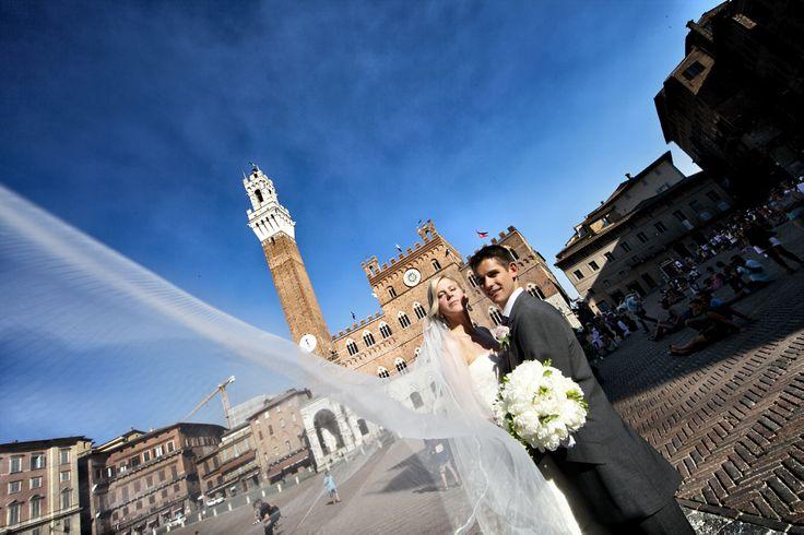 Piazza del Campo in Siena city