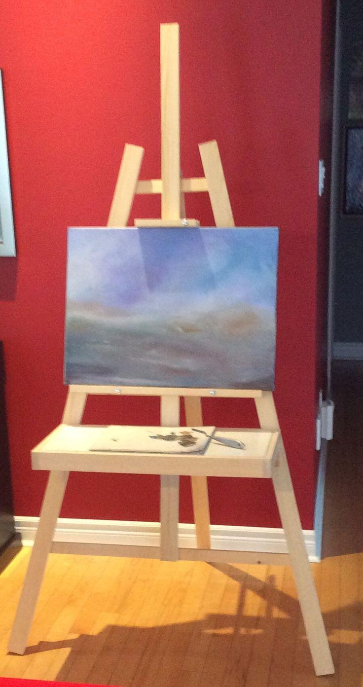 Chevalet pour peintre