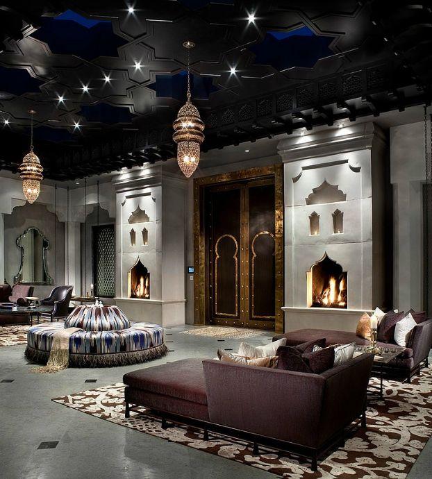 Spectacular decoración con  Estilo e interiores de lujo en Marruecos