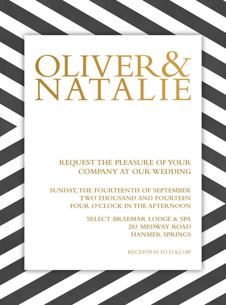 Oliver & Natalie's Wedding Invite
