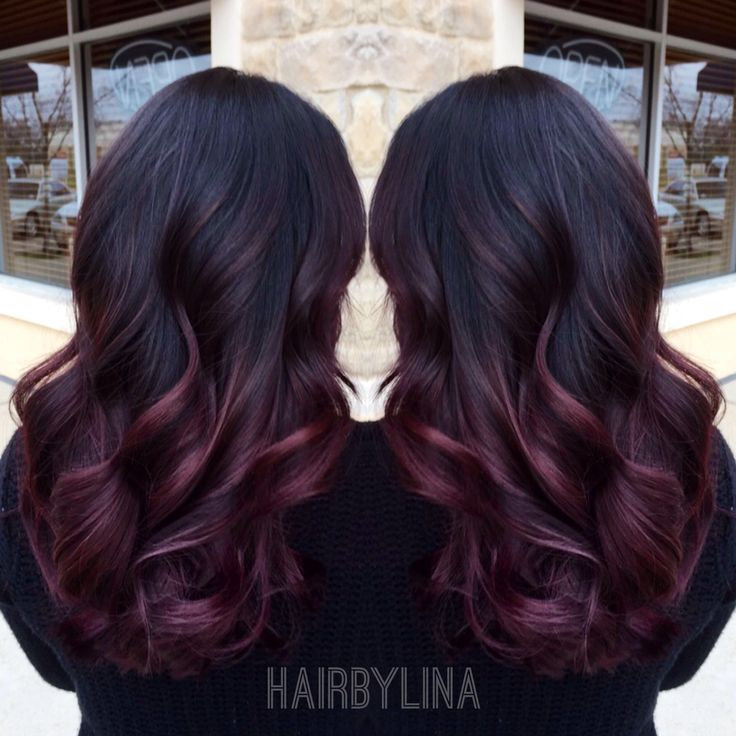 Burgundy ombre on Instagram @ mirror_mirror_onthewall