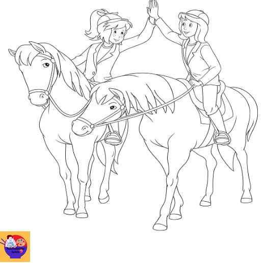 ausmalbilder bibi und tina  ausmalbilder pferde zum