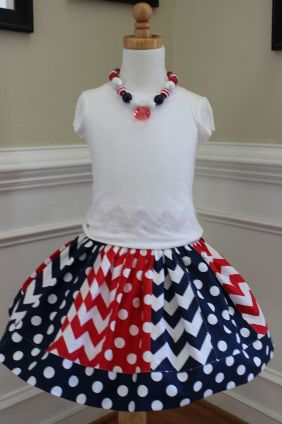 girls 4th of july skirt patriotic outfit 4th of july skirt 4th of July set 4th of july chevron skirt 4th of july clothing red white blue