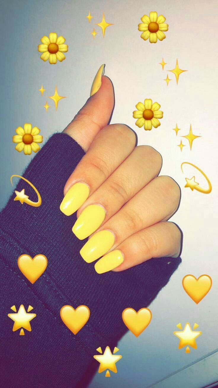Cute Short Acrylic Nails Yellow Nail And Manicure Trends