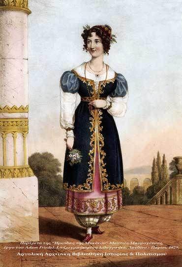 griechische Tracht, vermutlich 1820er
