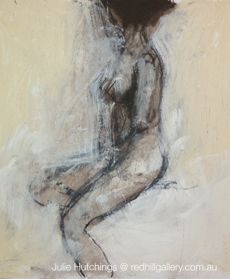 "Julie Hutchings figurative painting ""Lost In Thought"". Red Hill Gallery, Brisbane. redhillgallery.com.au"