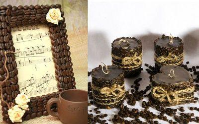 dekor iz kofeinih zeren