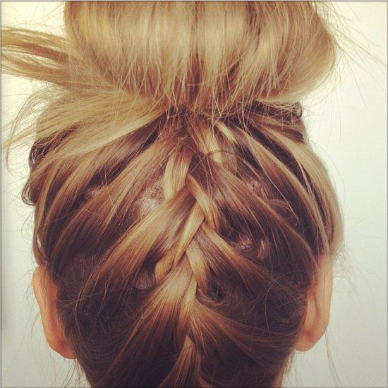 Pin for Later: 8 Holiday Beauty How-Tos For a Festive Season Braided Topknot Turn your regular topknot into something so much more with the help of this holiday-hair tutorial. It's a fun spin that will have everyone talking.