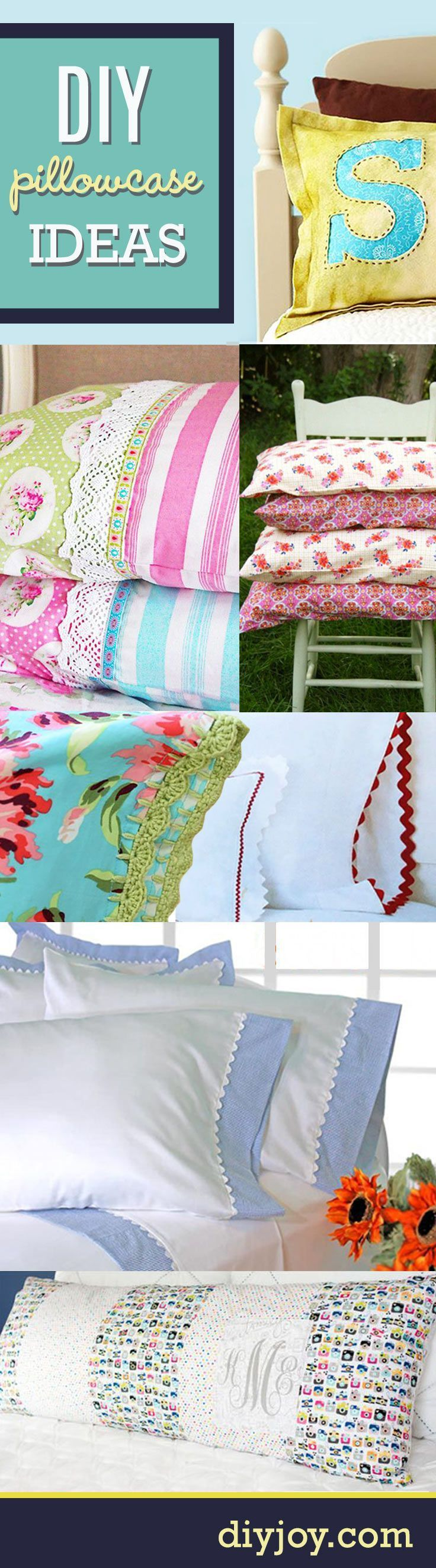 DIY Projects for the Home - Sewing Ideas for the Bedroom   DIY Pillowcase Ideas and Sewing Tutorials