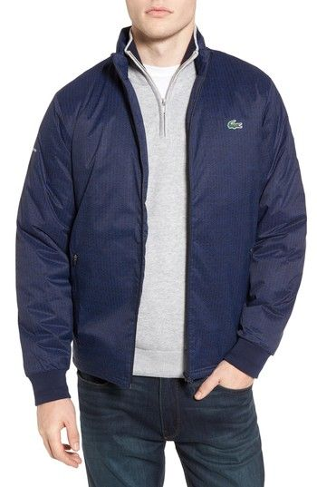 Free shipping and returns on Lacoste Herringbone Zip-Up Jacket at Nordstrom.com. A sleek jacket with quilted lining embraces the sporty lifestyle of the iconic French brand with reflective prints and a signature croc appliqué at the chest.