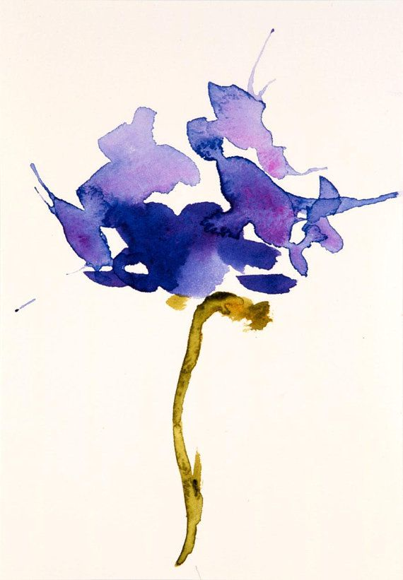 Azalea Flower Watercolor Painting Original Watercolor Floral Art 5x7 Artwork Art Gifts For Her Art Gift Basket Optional Matchoices Dessin Aquarelle