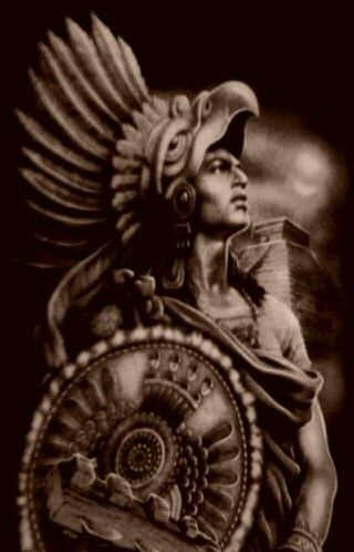 """""""May you have the strength of eagles wings, The faith and courage to fly new heights And the wisdom of the universe to carry you there.""""    ~ Native Blessing  * Aztec Eagle Warrior  <3 lis"""
