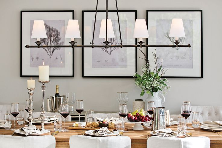 Classic Hamptons table setting in the Astor Grange on display at Upper Point Cook.
