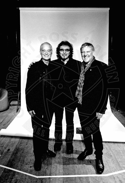 Jimmy Page, Tony Iommi and Alex Lifeson 11/11/13 Photo by Ross Halfin
