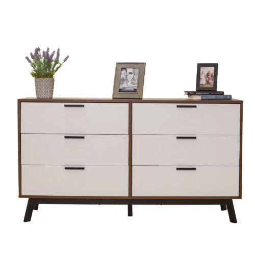 timeless design ea62f 5d4a5 Sheyla 6 Drawer Double Dresser   Dressers in 2019   Modern ...
