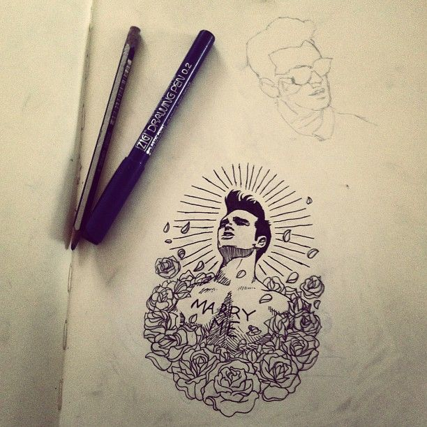 .@linlinekek | Still working on my #morrisseytattoo . #thesmiths #morrissey…