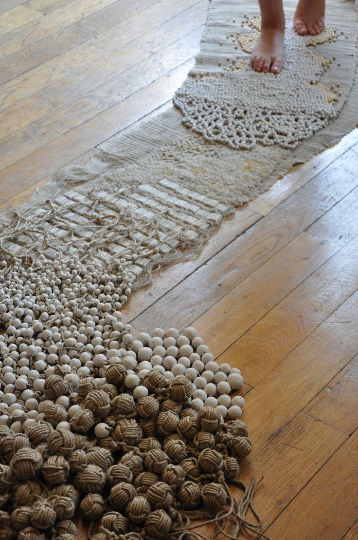 Frédérique Breuillé déambulation design textile lin, chanvre, argile