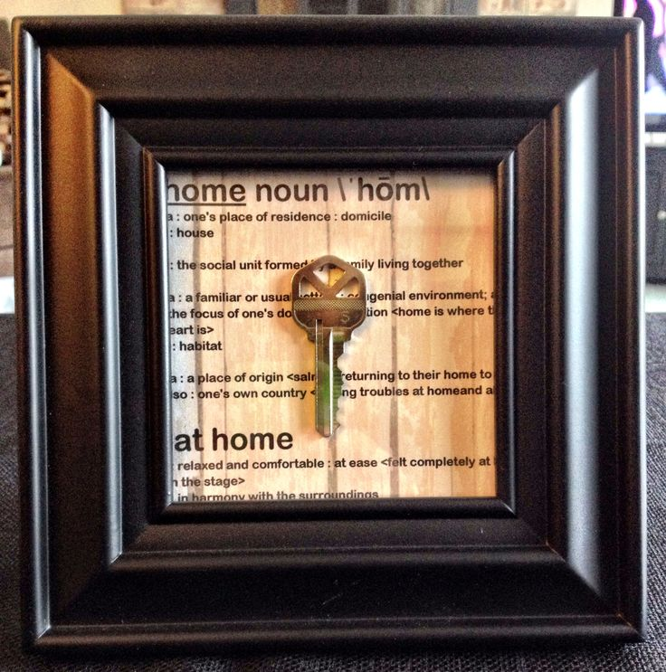 First house key framed
