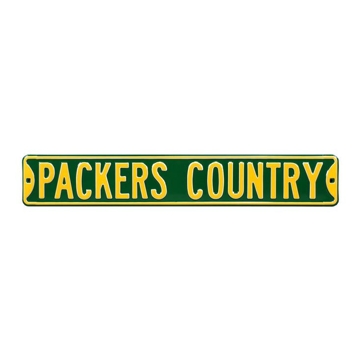 "Green Bay Packers Country 6"" x 36"" Steel Street Sign - Green - $35.99"