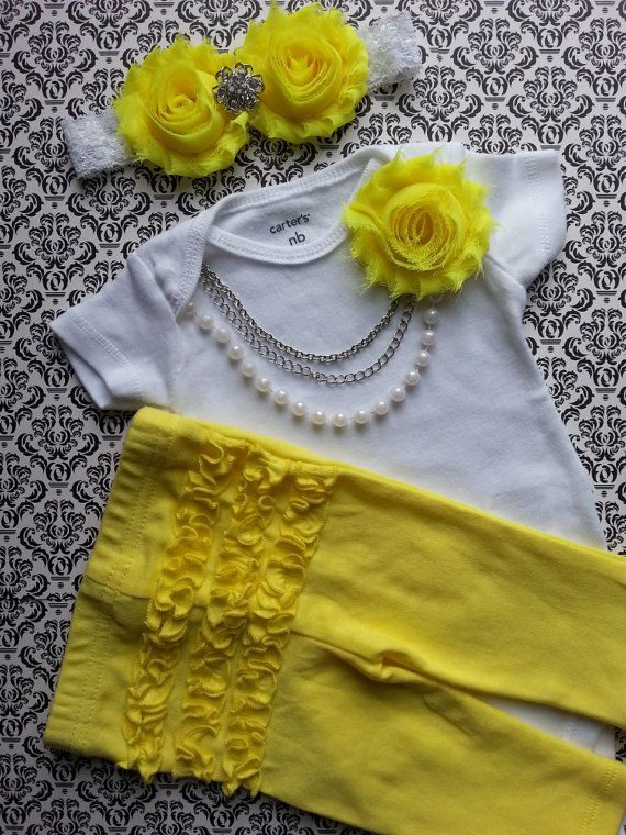 Baby Girl Newborn Take Home Outfit Headband by LeopardLaceLove, $40.00