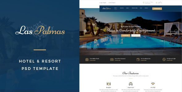 Las Palmas : Hotel & Resort PSD Template by TonaTheme Las Palmas : Hotel & Resort PSD Template suitable for all types of Hotel & Resort Businesses. That Includes totally 12 Pages. Page
