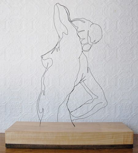 Steel wire sculpture