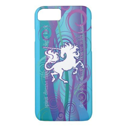2013 Mink Tech Inspirational Unicorn 7/8 iPhone Cs iPhone 8/7 Case - horse animal horses riding freedom