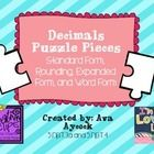 This is a puzzle activity to help students match decimals to word form and expanded form and also to the decimal rounded to the nearest tenth.  Inc...