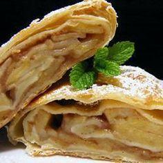 Apfelstrudel @ allrecipes.nl - Inplaats van suiker, palmsuiker.