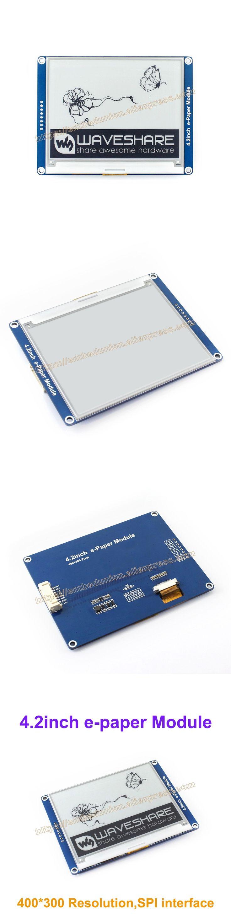 4.2inch e-paper 400x300 E-Ink Drive Demo board display module Display color:black&white. No backlight wide angle, SPI interface