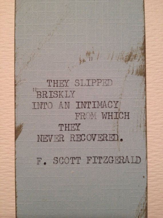THE FITZGERALD Typewriter quote on 2 x 6.5 bookmark by WritersWire