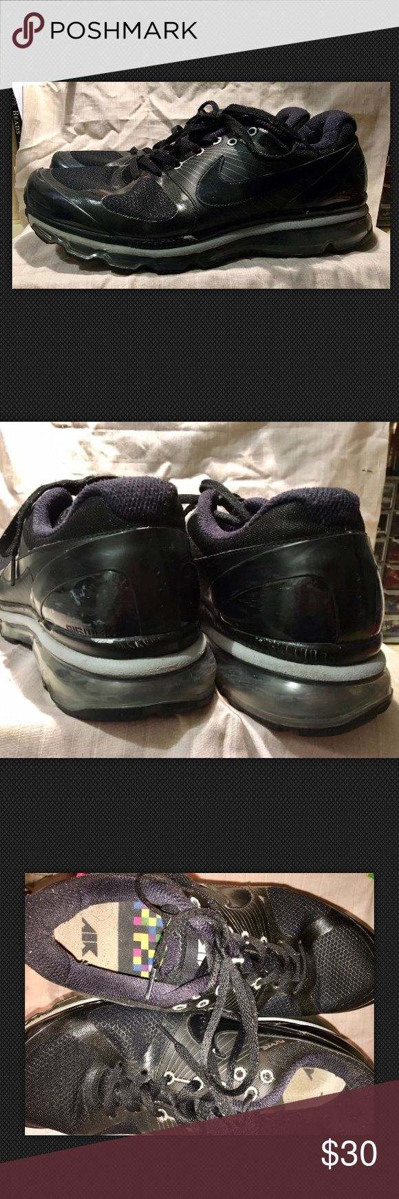 Nike Air Max 360 Flywire 2010 Black Men's Sz 13 These shoes are in great condition despite a few scuffs. Please make sure to refer to the pictures.   Black Nike Air Max 360 Flywire 2010 Running Shoes 386368-006 Size 13 US Men's Nike Shoes Sneakers